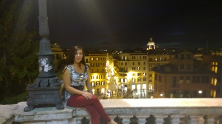 At the top of the Spanish Steps