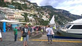 On the dock in Positano