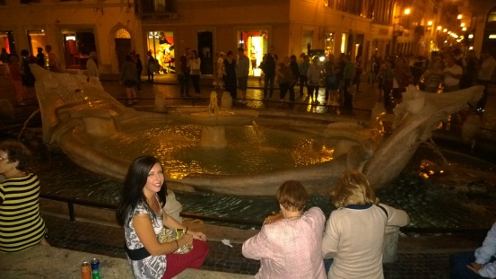 Fountain at the Spanish Steps