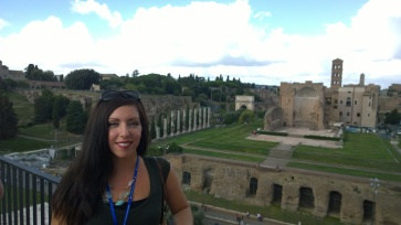 Palatine Hill and the Roman Forum from the 3rd Tier of the Colosseum