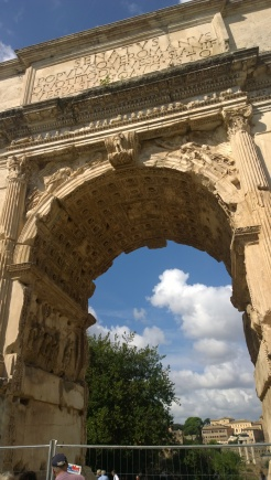 Arch of Titus at the entrance to the Roman Forum