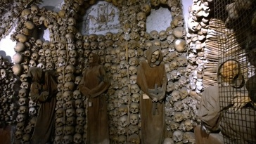 Real human remains of the Capuchin monks