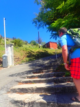 Hiking up to Fort Louis